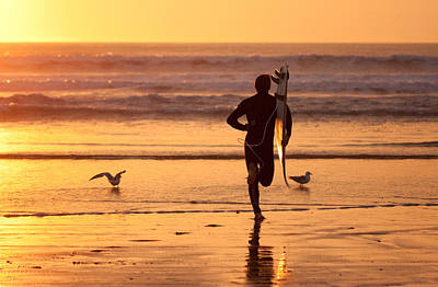 Art Print featuring the photograph Running To Surf by Nathan Rupert