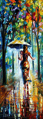 Free Painting - Running Towards Love - Palette Knife Oil Painting On Canvas By Leonid Afremov by Leonid Afremov