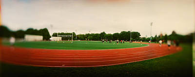 Greenpoint Photograph - Running Track In A Park, Mccarran Park by Panoramic Images