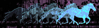 Animals Digital Art - Running Wild by David G Paul