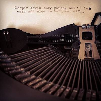 Typewriter Photograph - @runningwiththescissors Wrote Me A by Cooper Naitove