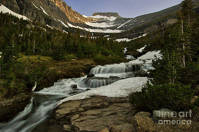 Photograph - Runoff Waterfall Near Logan Pass by Charles Kozierok