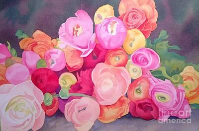 Ranunculus Painting - Rununculus Bunch by Amanda Schuster