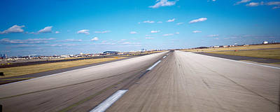 Vanishing America Photograph - Runway At An Airport, Philadelphia by Panoramic Images