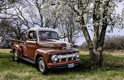 Rural 1952 Ford Pickup Art Print by Betty Denise