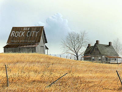 Art Print featuring the painting Rural America by Mike Brown
