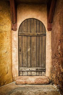 Medieval Entrance Photograph - Rural Arch Door by Carlos Caetano