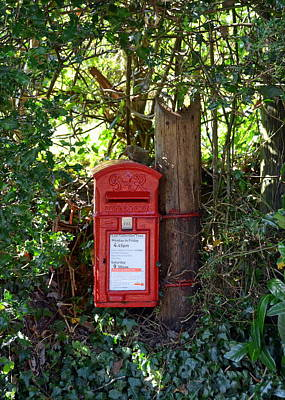 Photograph - Rural British Letter Box by Carla Parris