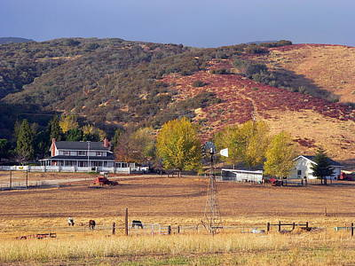 Photograph - Rural California Ranch by Jeff Lowe