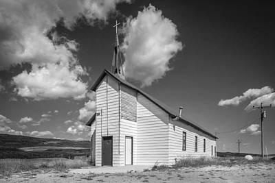 Photograph - Rural Church Glacier National Park Bw by Rich Franco