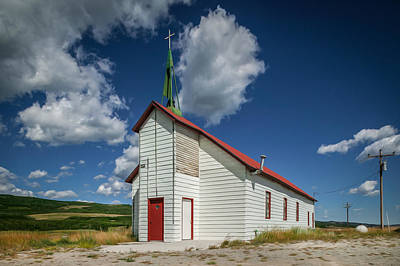 Photograph - Rural Church Glacier National Park Painted by Rich Franco