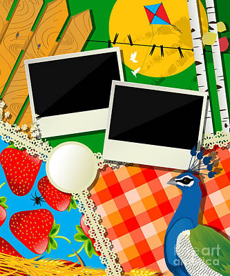 Strawberries Digital Art - Rural Collage by Richard Laschon