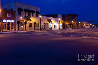 Photograph - Rural Downtown And A Twilight Sky by Ben Sellars