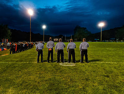 Rural Friday Night Lights Art Print by Michael Weaver