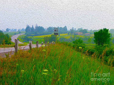 Photograph - Rural Highway In Oil Paint by Nina Silver