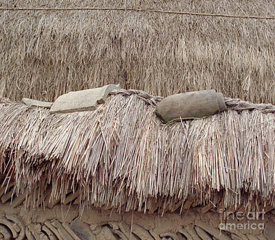 Photograph - Rural Korean Photography - Thatched Roof by Sharon Hudson
