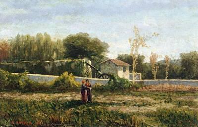 Genoa Painting - Rural Landscape by Ernesto Rayper