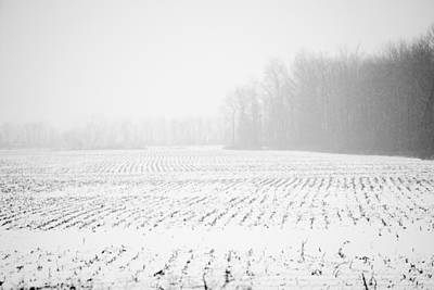 Photograph - Rural Landscape In Winter. by Alex Potemkin