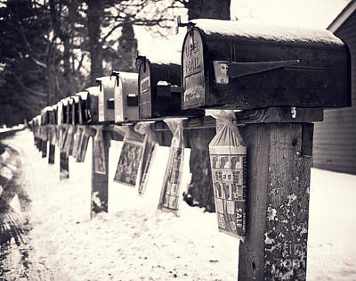 Rural Mailboxes Print by Edward Fielding