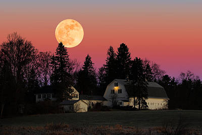 Photograph - Rural Moonrise by Larry Landolfi