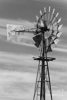 Rural Nebraska Windmill Art Print