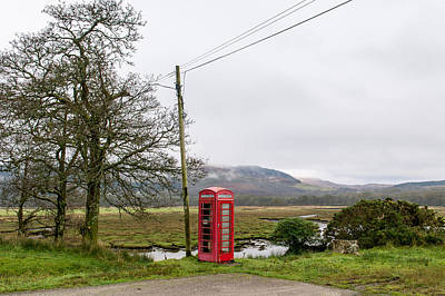 Photograph - Rural Phone Box by Gary Eason