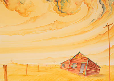 High Plains Painting - Rural Post Office by Scott Kirby
