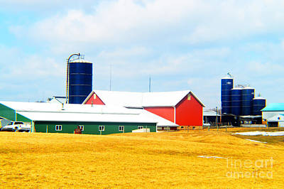 Rural Primary Colors Print by Tina M Wenger