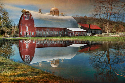 Barns Digital Art - Rural Reflections by Lori Deiter