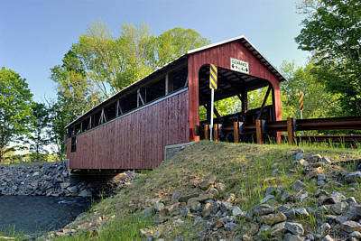 Photograph - Rural Renewal At The Frazier Covered Bridge by Gene Walls