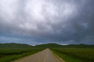Rural Road And Dramatic Sky In Idaho Art Print by Vishwanath Bhat