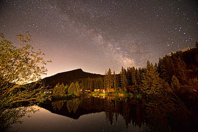 Outerspace Patenets - Rural Rustic Rocky Mountain Cabin Milky Way View by James BO Insogna