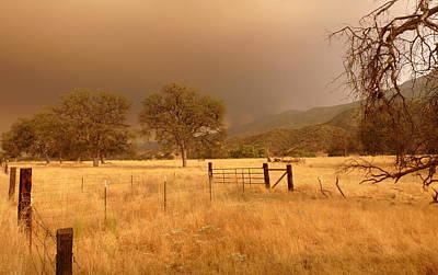 Photograph - Rural Scenic Fire And Smoke by Jeff Lowe