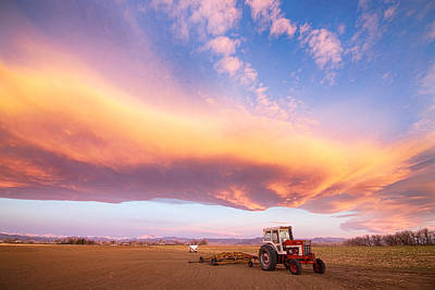 Tractors Photograph - Rural Turbo Country Sky by James BO  Insogna