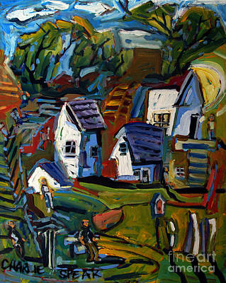 Distortions Painting - Rural Wahenberg by Charlie Spear