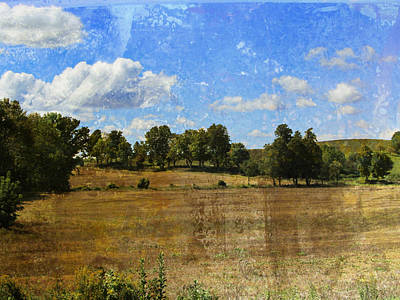 Digital Art - Rural Wi Field W Texture by Anita Burgermeister
