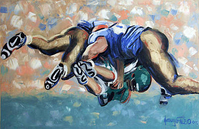 Sports Paintings - Rush by Anthony Falbo