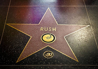 Alex Lifeson Photograph - Rush Has A Star by April Reppucci