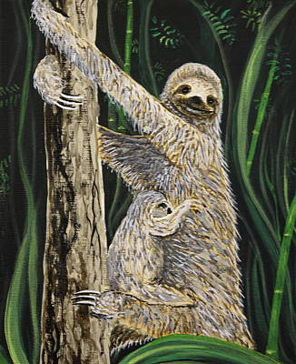 Sloth Painting - Rush Hour by Marty  Calabrese