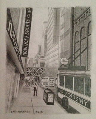 Rush Hour On W 41 Street Art Print