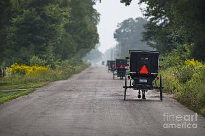 Amish Photograph - Rush Hour Sunday Morning by David Arment