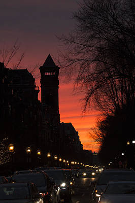 Boston Photograph - Rush Hour Sunset by Pedro Correa