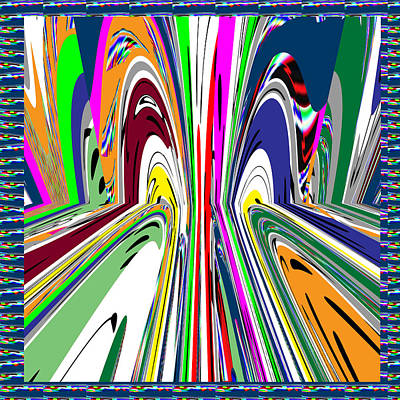 Champion Mixed Media - Rush To Las Vegas Abstract Graphic Digital Art Stream Of People Hectic Activity And Entertainment Us by Navin Joshi