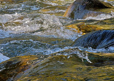 Photograph - Rushing And Bubbling River Water by Kirsten Giving