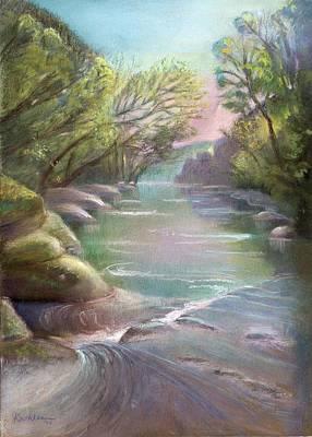 Rushing Creek Gatlinburg Tennessee Art Print by Kathleen Bonadonna