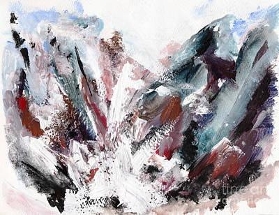 Rushing Down The Cliff Print by Lidija Ivanek - SiLa