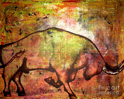 Art Print featuring the painting Rushing Matador by Amy Sorrell