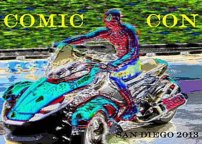 Art 2013 Digital Art - Rushing To Comic Con by David Lee Thompson