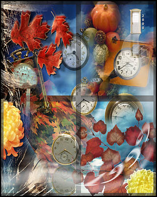 Digital Art - Rushing Towards 2000 by Linda Carruth