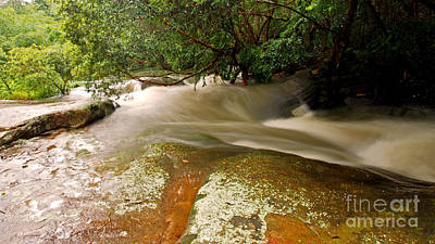 Rushing Waters In A Rocky Creek Print by Justin Woodhouse
